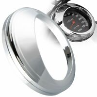 "for 5"" Harley Speedometer Aluminum bezel Chrome plated Trim ring visor cover"