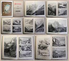 Alpenlandschaften Ansichten Gebrigswelt großer Bildband Weber um 1900 Folio xz
