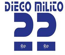 Diego MILITO #20 REAL zaragosa 2008-2009 HOME FOOTBALL Nameset per maglia