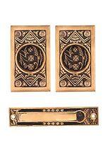 Oriental pattern pocket door set cast bronze (passage)