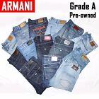 ARMANI Mens Designer Blue Jeans GRADE A Vintage W30 W32 W34 W36 W38 J06 J21 J45