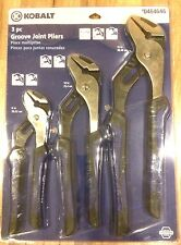 "KOBALT 3PC GROOVE JOINT PLIERS 8"",10',12"" (#464646)"
