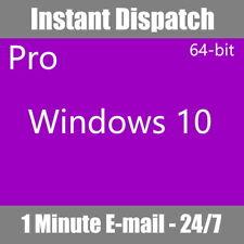 More details for windows pro 10 64 bit