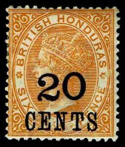 1888-89 British Honduras #31 QV Surcharged - OGHR - VF - CV$19.00 (ESP#3148)