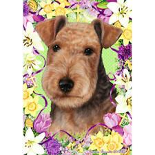 Lakeland Terrier Black & Tan Easter Flowers Flag