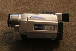 JVC GR-DVL257 EK Digital Video Camera. Used. Colour Silver. Mini DV Video Tapes.