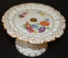 Magnifique Meissen gâteau support fait main en porcelaine pièce maîtresse