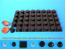 "40 Self Stick Rubber Bumpers Stops Legs Feet Pads No Slip .50""W x .25""H USA Made"