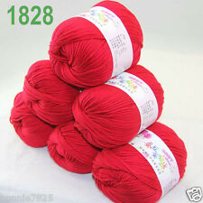 Sale 6 ballsx 50gr DK Baby Soft Cashmere Silk Wool hand knitting Crochet Yarn 28