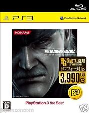 Used PS3 Metal Gear Solid 4: Guns  SONY PLAYSTATION 3 JAPAN JAPANESE IMPORT