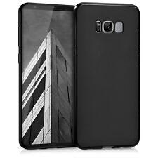 kwmobile TPU Schutz Hülle für Samsung Galaxy S8 Plus Schwarz matt Case Silikon