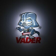 Star Wars 3d Deco LED Lámpara de pared Darth Vader Nuevo Oficial Iluminación