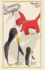 Reproduction Vintage Scottie Dog, Mother & Baby Penguin Sewing Pattern ED151