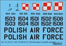 C-130 E HERCULES - POLISH AF MARKINGS 1/72 MODELMAKER