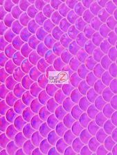 """HOLOGRAM SCALE FOIL NYLON SPANDEX FABRIC - Magenta - 57""""/58"""" W SOLD BY THE YARD"""