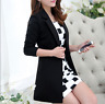 Womens Long Sleeve One Button Blazer Casual Jacket Suit Coats Slim Fit New I538