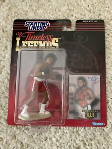 STARTING LINEUP 1998 TIMELESS LEGENDS MUHAMMAD ALI (Red Shorts) FIGURE w/ Cover
