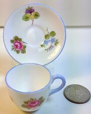 Shelley China Westminster Miniature Cup and Saucer in Rose,Pansy, Forget Me Not