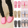 Washable Microfiber Floor Cleaning Mop Slipper Shoes Cover House Dust Clean Lazy
