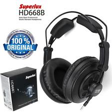 Superlux HD668B Semi-open Dynamic Professional DJ Studio Headband Headphones New