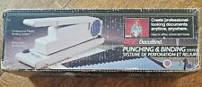 Vintage Gbc Docubind Spiral Document Paper Punch Binding System Heavy Duty Usa