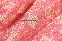 By Yard Indian Hand block Print Running Loose Cotton Fabrics Lotus Printed Decor