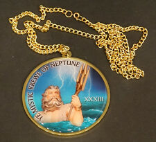 2013 Vintage TAMPA GASPARILLA Pirate Parade KREWE OF NEPTUNE Metal BEAD NECKLACE