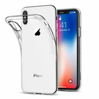 Case For iPhone X Shock Proof Crystal Clear Soft Silicone Gel Bumper Cover Slim