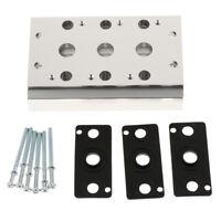 Manifold Block for 4V210-08 4V220-08 4V230-08 Solenoid valve Full Station
