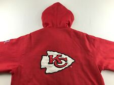 STARTER Kansas City Chiefs The Prime Vintage Full Snap Satin Jacket Red
