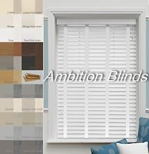 FAUX WOOD  VENETIAN BLINDS WITH TAPES  MADE TO MEASURE CHILD SAFE WATERPROOF
