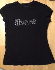 The Doors Tee Med Womens By Vintage Vinyl Rhinestone Logo T-shirt Tee Juniors