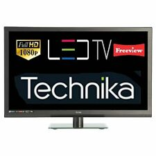 "Technika 24F22B-FHD 24"" Slim LED TV Full HD 1080p Combi DVD With Freeview Black"