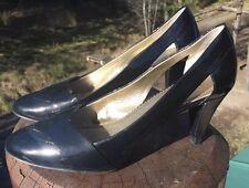 """AK Anne Klein Women's Black Patent Leather """"AKAVARI"""" Pumps Shoes Size 9.5M"""