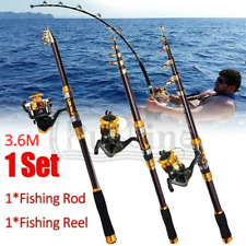 3.6M Fishing Rod & Reel Telescopic Portable Saltwater Freshwater Spinning Pole
