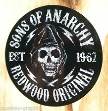 "Autocollant vintage redwood ""sons of Anarchy"" retro sticker BIKER/CHOPPER 1% us"