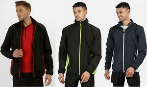 Regatta Mens Athens Tracksuit Top Zip Pocket Jacket Gym Running Reflective
