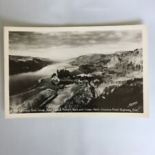 Columbia River Gorge East Rooster Rock and Crown Point Oregon RPPC Postcard