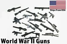 LEGO Guns WWII Lot of 10 Custom Military Army Rifle Sniper Bazooka SMG Toy Pack