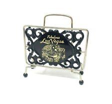 Vintage Fabulous Las Vegas Black and Gold Art Deco Napkin Holder Gambling Cards