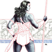 WONDER WOMAN Frank Cho ART PRINT Signed #5 Variant Cover SDCC 2017 Diana Prince