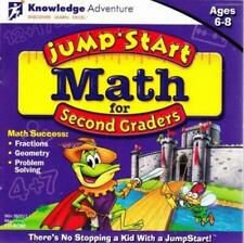 JumpStart Math for 2nd Second Graders Pc Mac Cd learn tell time count money etc!
