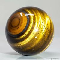 165g 49mm Natural Golden Yellow Tiger Eye Quartz Crystal Sphere Healing Ball