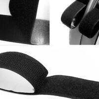 1M Self Adhesive Hook and Loop Tape Sew-On Craft Fastener Tape Black 20mm