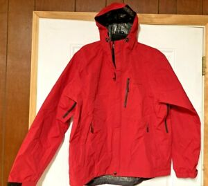 Grundens Gage Technical Weather Watch Hooded Sport Fishing Rain Jacket size L
