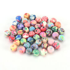 500pcs 6mm mixed flowers polymer fimo clay round diy findings loose beads LJ