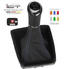 Cuero ICT palanca de cambio saco marco Opel Astra H GTC ningún OPC costura azul 6-pandillas 56