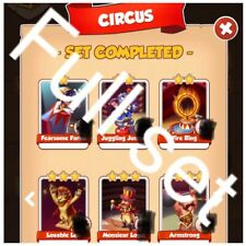 Full Circus Set Fire Ring Armstrong Etc: Coin Master Fast Delivery
