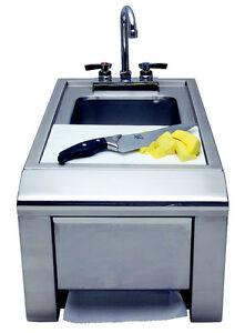 Alfresco Prep and Wash Sink,  Model #ASKT
