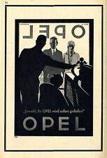 Jawohl, Ihr OPEL wird sofort geliefert  Historische Reklame von 1929